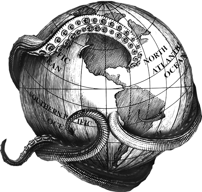 angler fish black and white picture