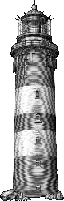 greyscale lighthouse in the dark
