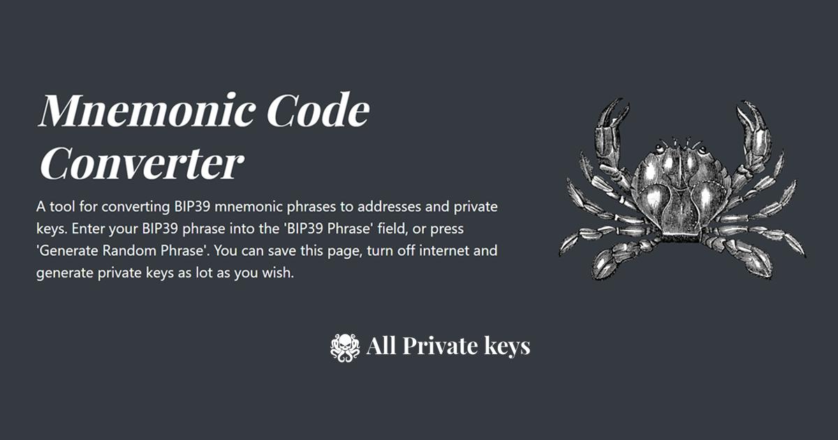 Mnemonic Code Converter